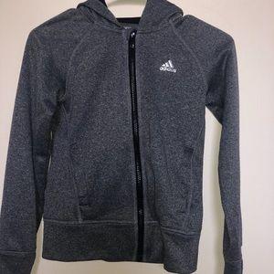 Dark Grey Adidas Jacket/ Hoodie